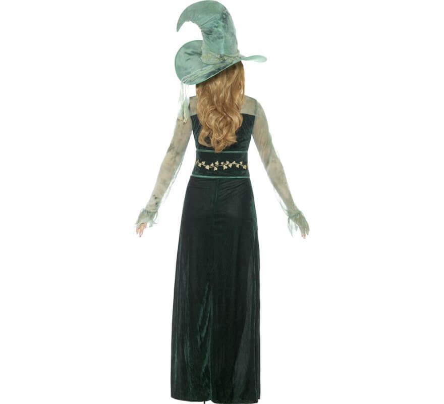 Disfraz de Bruja Verde Esmeralda para mujer-B