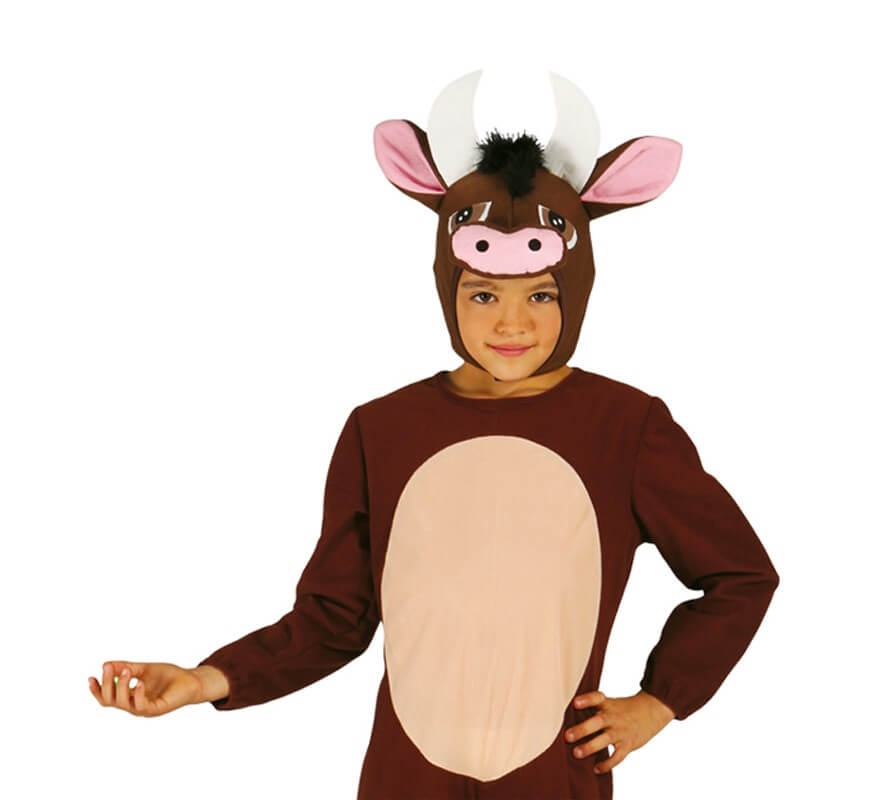 Disfraz de Buey marrón para niños-B