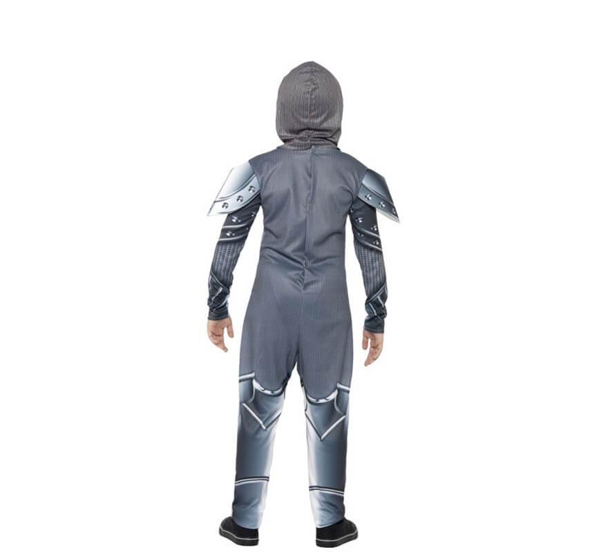 Disfraz de Caballero con Armadura de lujo gris para niño-B