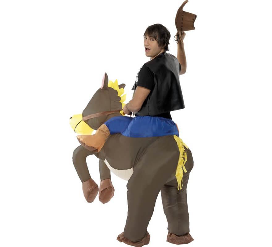 Disfraz de Caballo con Vaquero a Hombros Hinchable para adultos-B