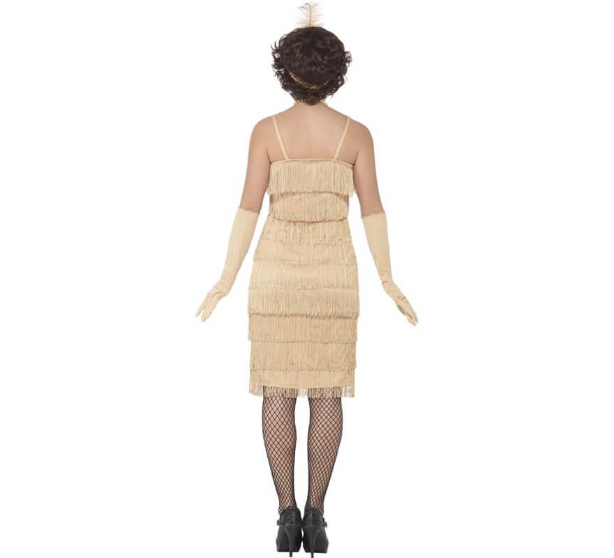 Disfraz de Cabaretera Dorado Largo de los años 20 para mujer-B