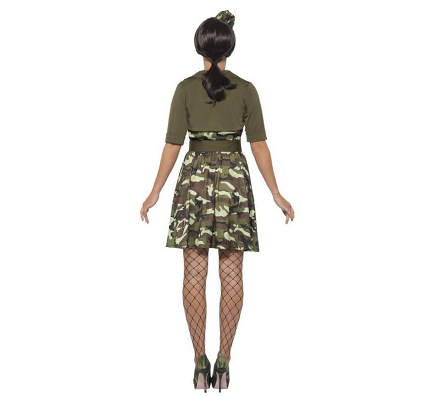 Disfraz de Cadete de Combate Militar para mujer-B