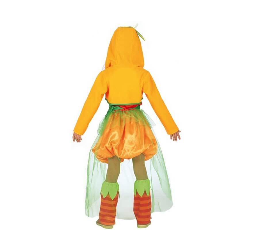 Disfraz de Calabaza con Velo para niña-B
