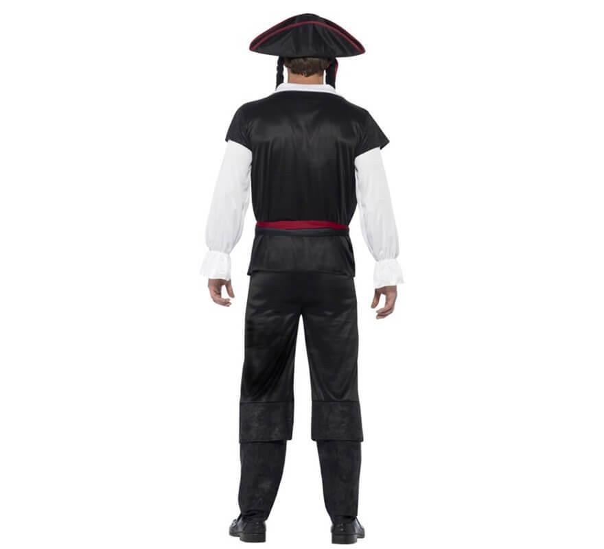 Disfraz de Capitán Pirata Negro para hombre-B