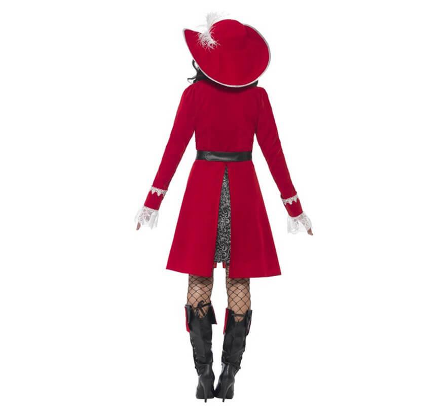 Disfraz de Capitana Pirata de lujo para mujer-B
