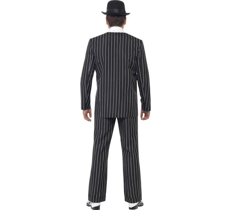 Disfraz de Capo Gánster Traje a rayas para hombre-B
