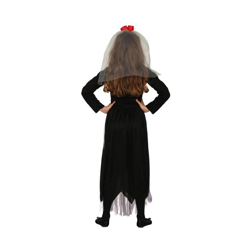 Disfraz de Catrina Morada del Día de Los Muertos para niña-B