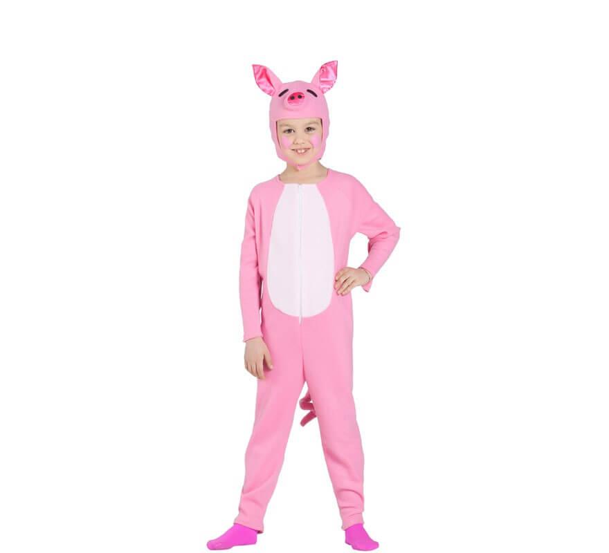Disfraz de Cerdo Rosa para niños-B
