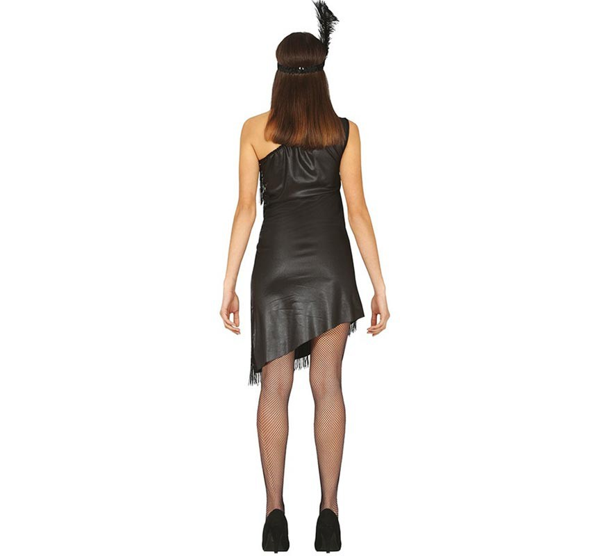 Charleston costume noir femmes-B