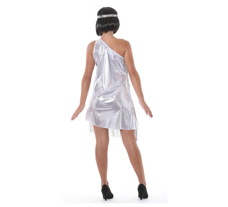 Disfraz de Charlestón plata para mujer-B