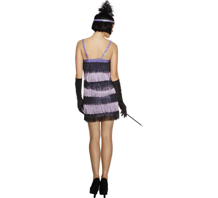 Disfraz de Charlestón púrpura para mujer-B