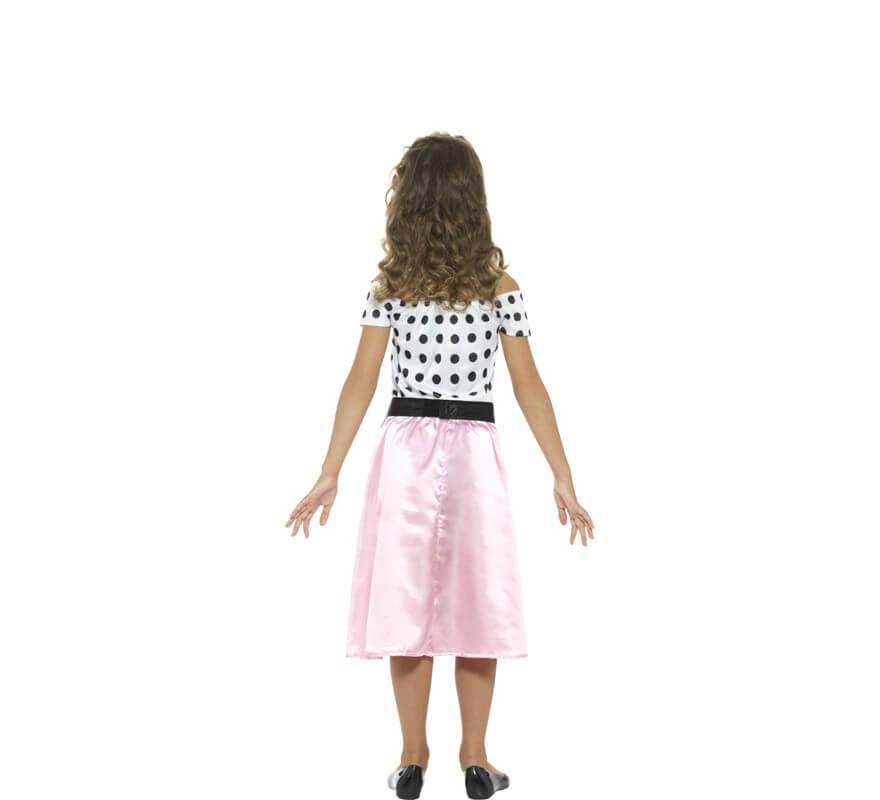 Disfraz de Chica de los Años 50 Rosa para niña-B