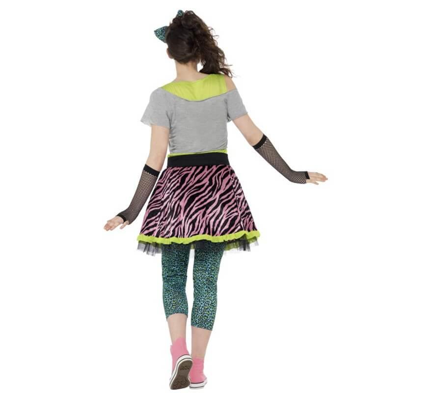Disfraz de Chica Pop de los Años 80 para mujer-B