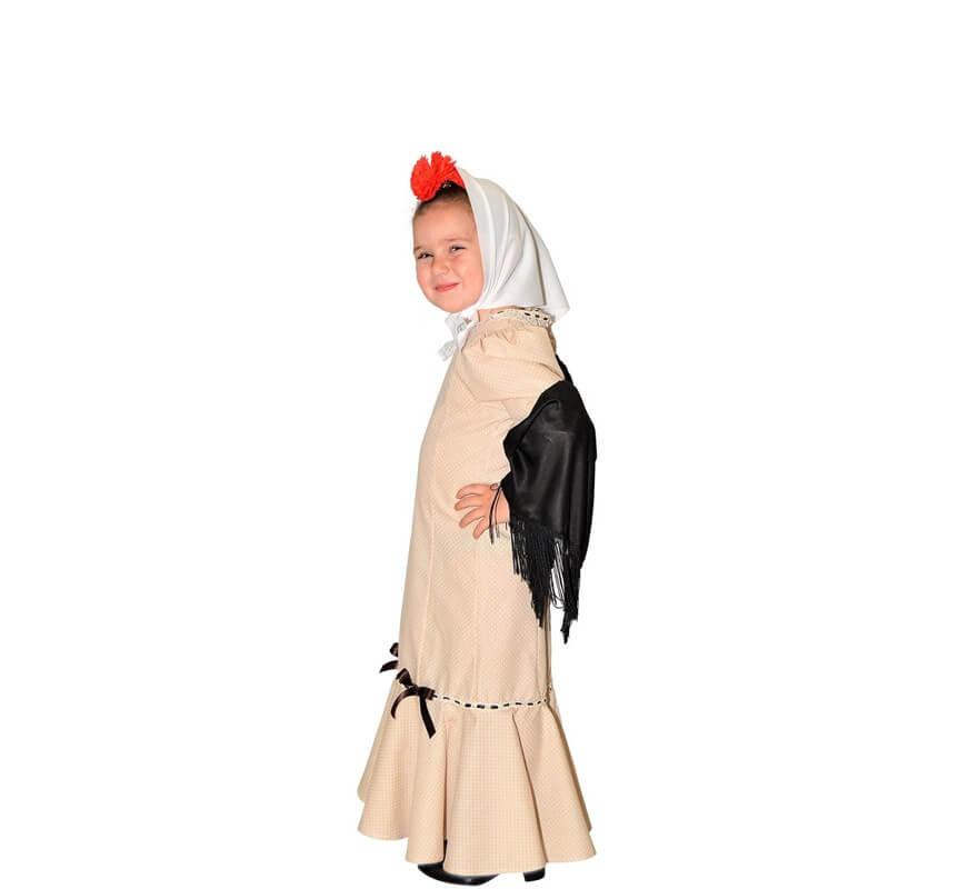 Disfraz de Chulapa Beige para niña-B