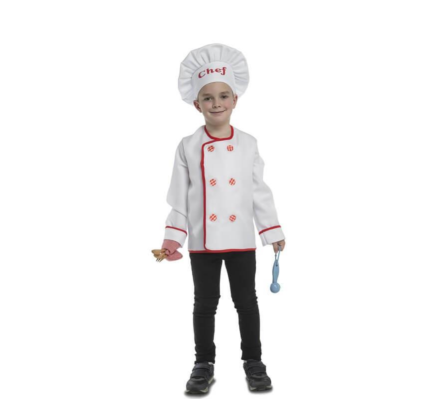 Disfraz de Cocinero con accesorios para niños-B