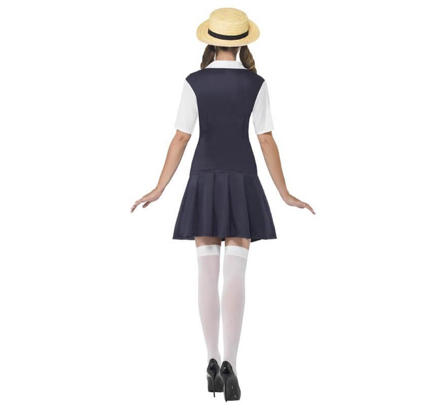 Disfraz de Colegiala playera para mujer-B