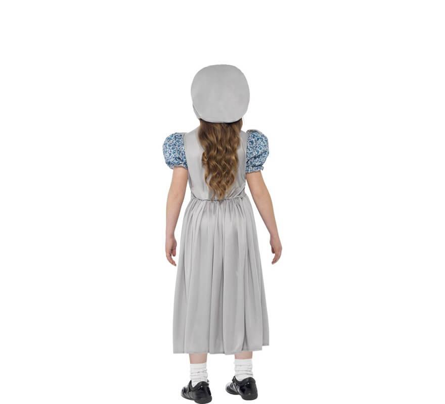 Disfraz de Colegiala Victoriana Gris para niña-B
