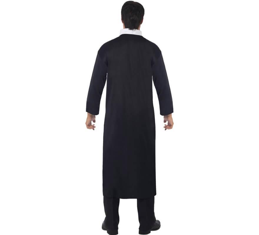 Disfraz de Cura Católico color Negro para Hombre-B