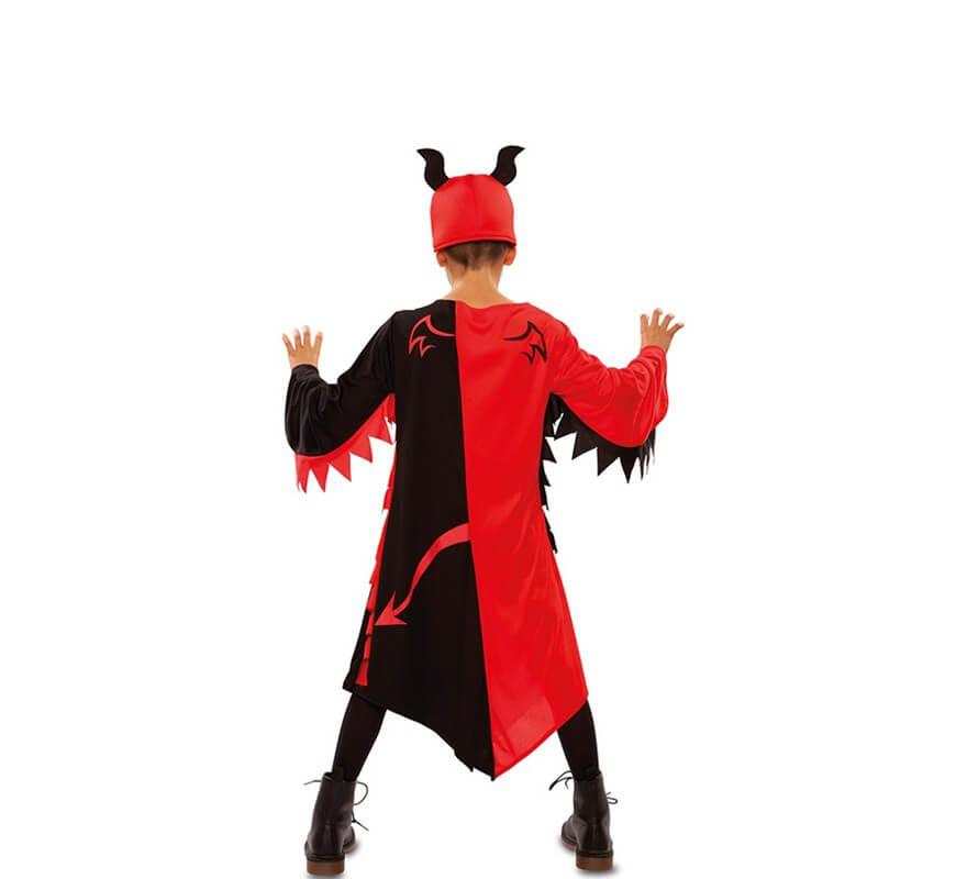 Disfraz de Demonio Rojo y Negro para niños-B