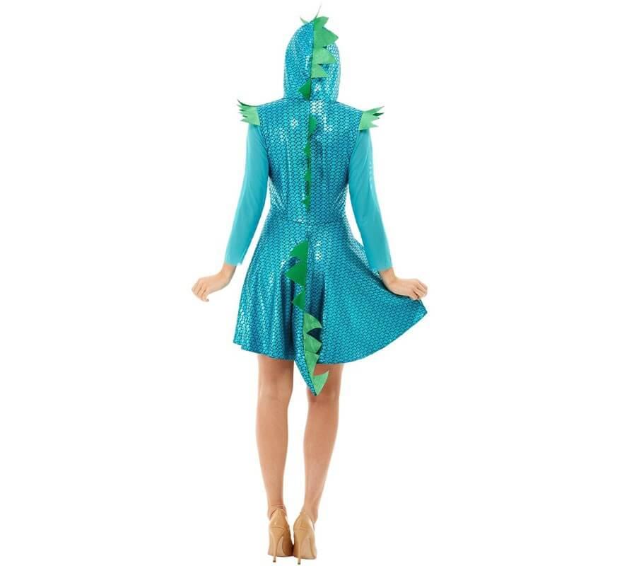 Disfraz de Dragón Azul para mujer-B