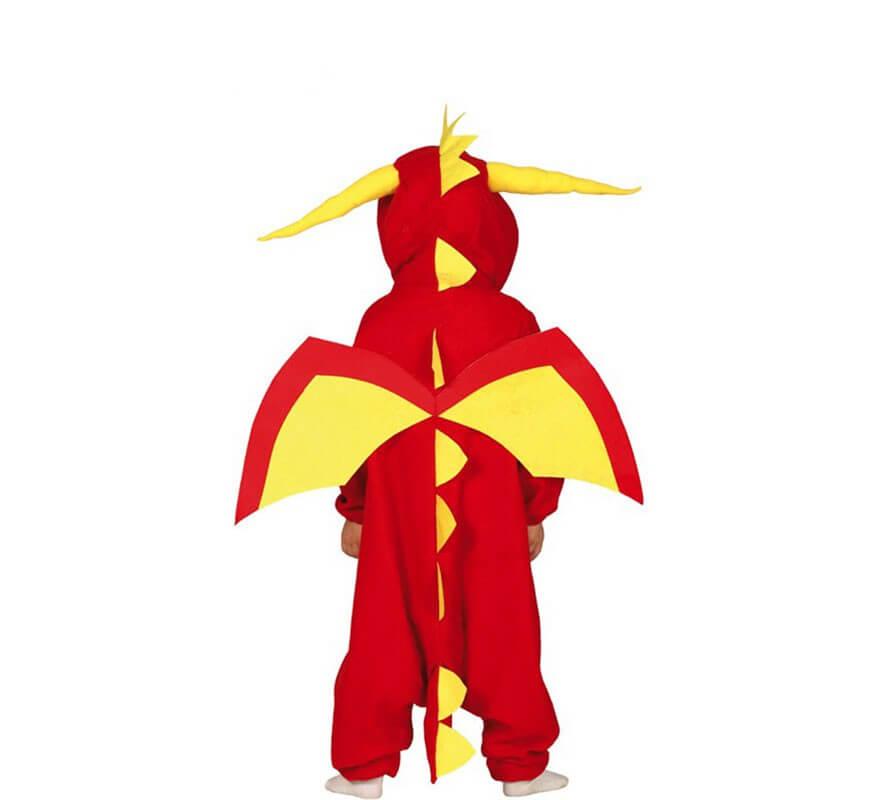 Disfraz de Dragón Rojo para niños-B