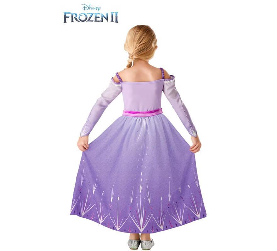 Disfraz de Elsa Morado de Frozen 2 para niña-B
