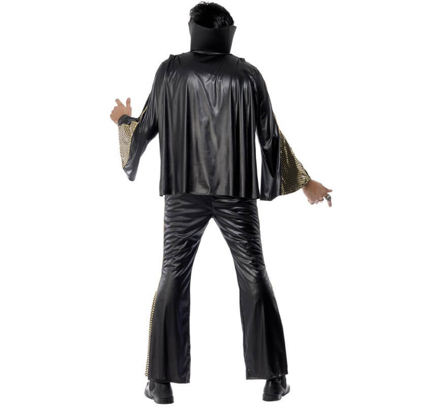 Disfraz de Elvis negro para hombre-B