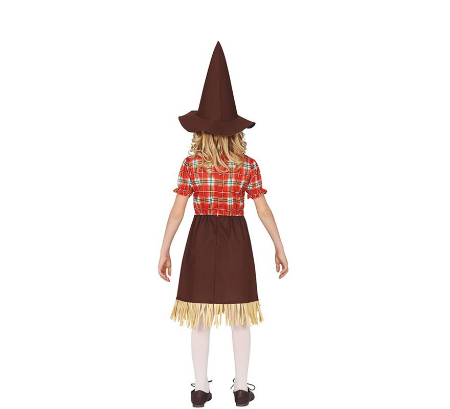 Disfraz de Espantapájaros Marrón para niña-B