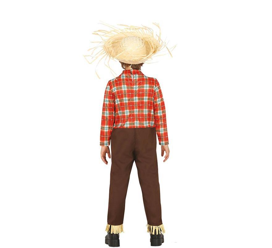Disfraz de Espantapájaros Marrón para niño-B