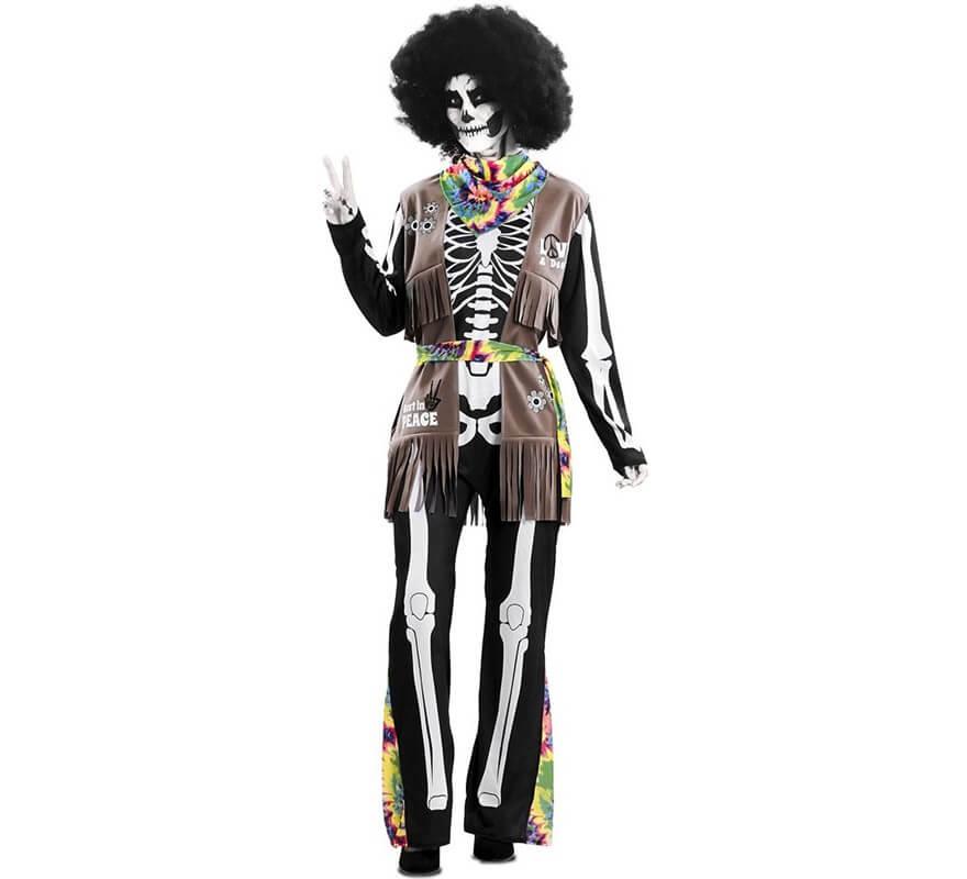 Disfraz de Esqueleto Hippie para adultos-B