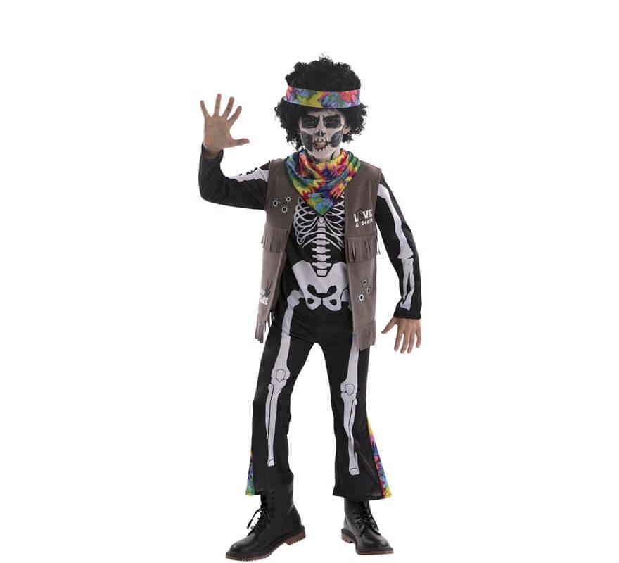 Disfraz de Esqueleto Hippie para niños-B