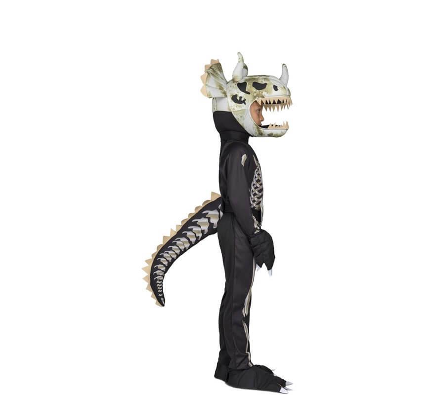 Disfraz de Esqueleto Triceratops para niños-B