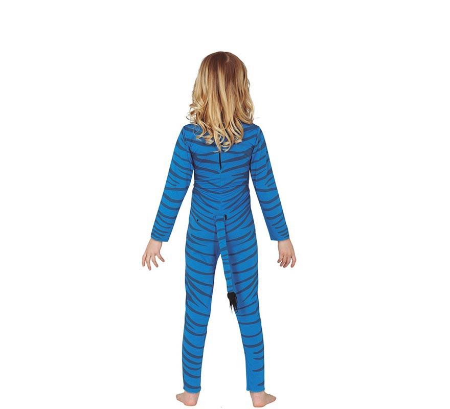 Disfraz de Felino Azul para niños-B
