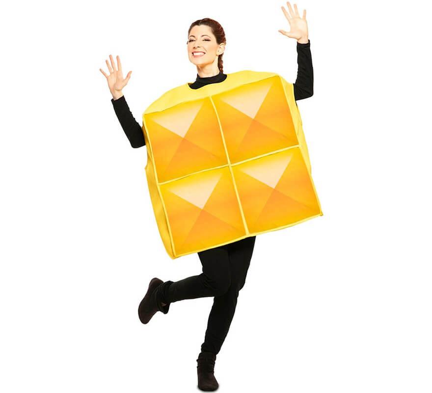 Fato de Tetris amarelo para adulto-B