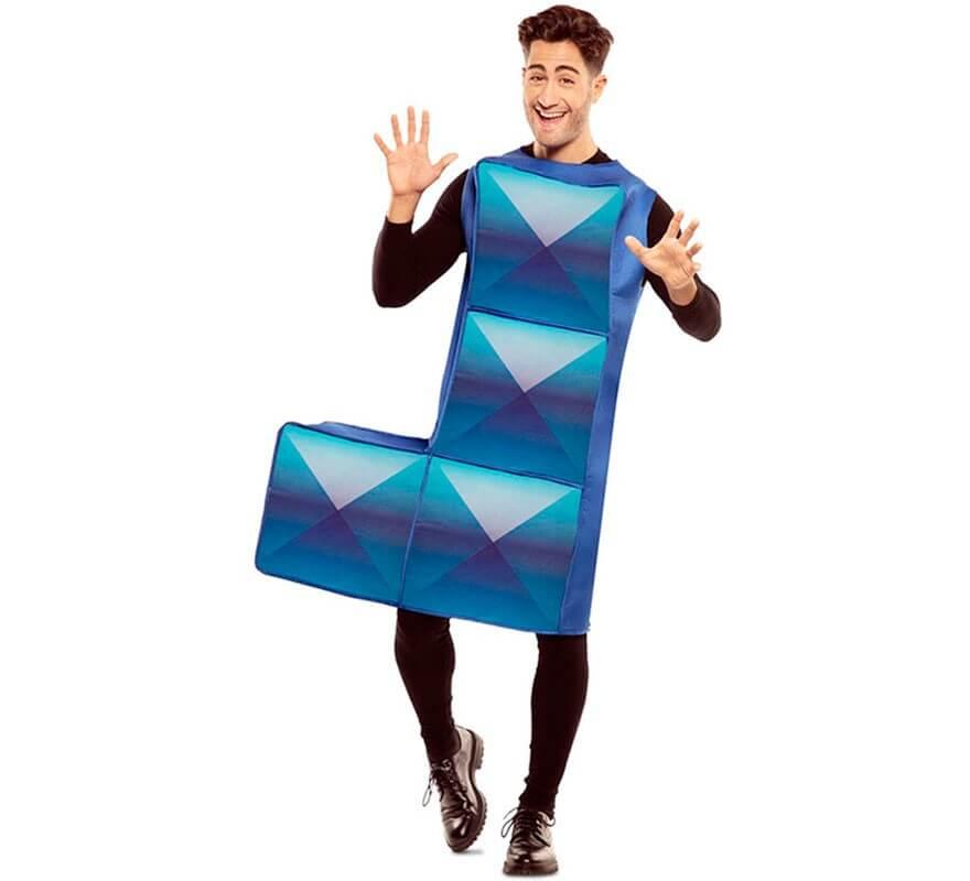 Disfraz de Figura de Tetris Azul para adultos-B