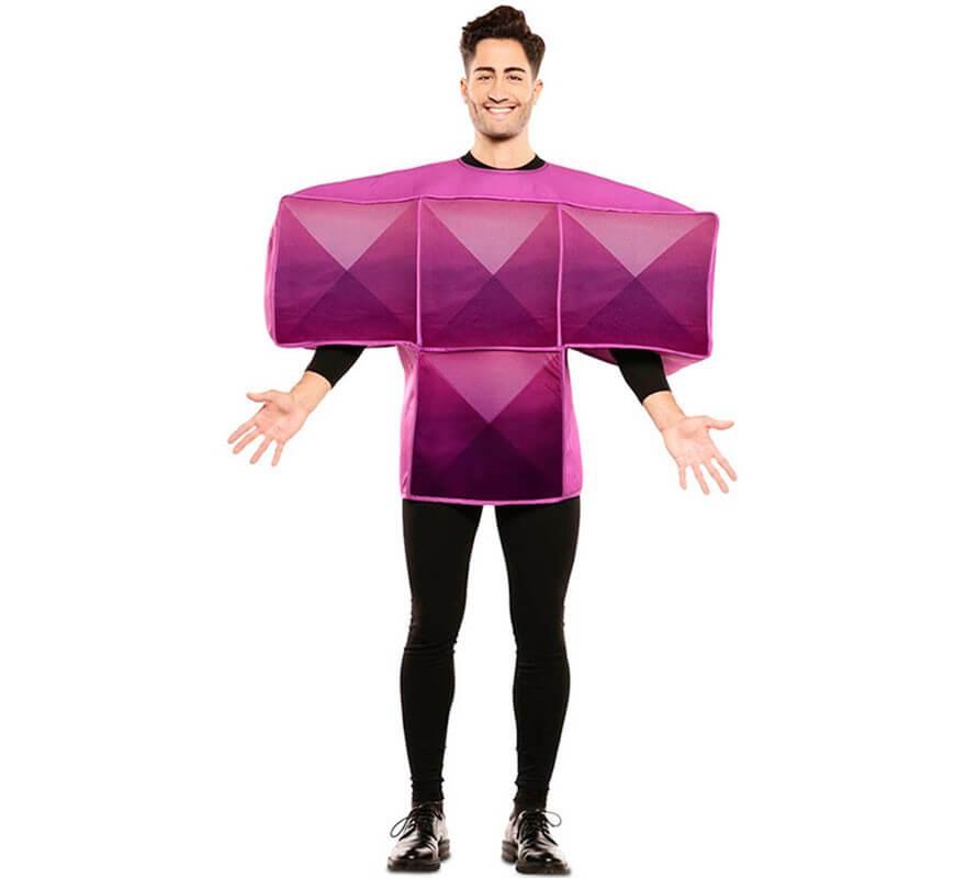 Disfraz de Figura de Tetris Morada para adultos-B