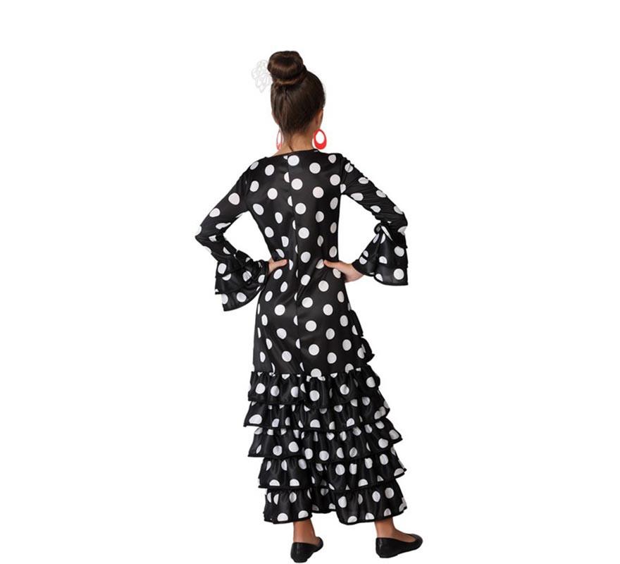 Disfraz de Flamenca Negro para niña-B