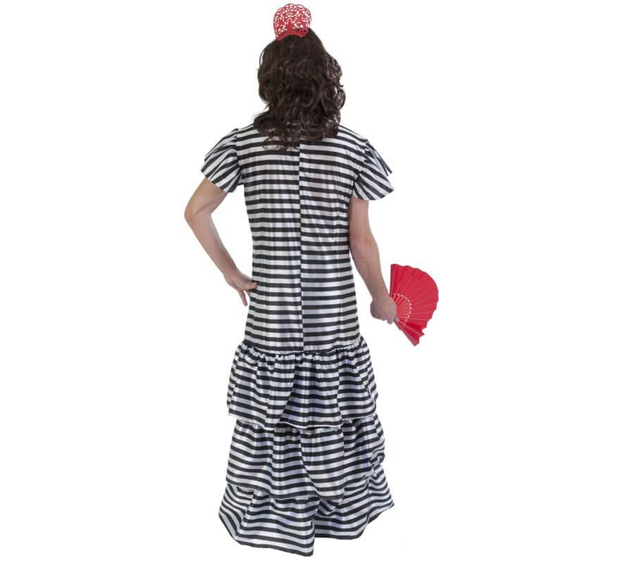 Disfraz de flamenca presidiaria para hombre-B