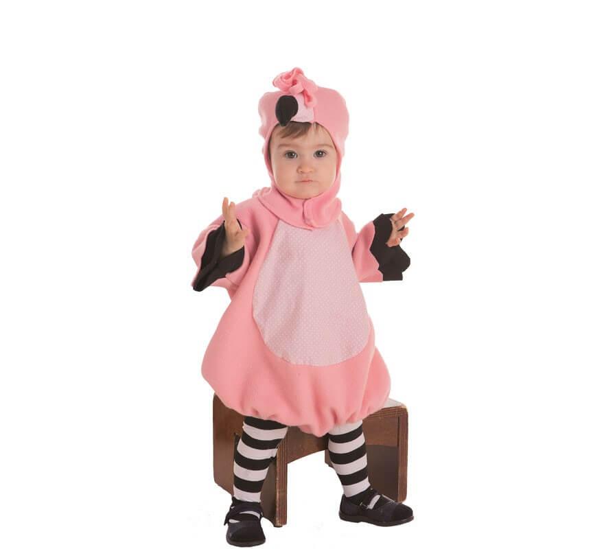 Disfraz de Flamenco Rosa para bebé-B