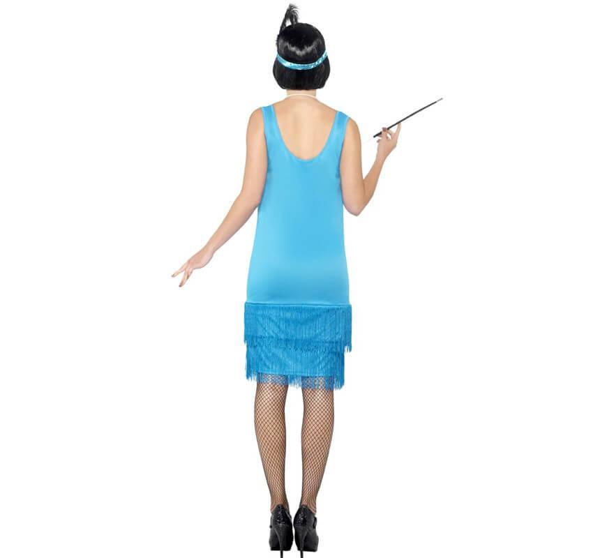 Disfraz de Flapper años 20 Azul para mujer-B