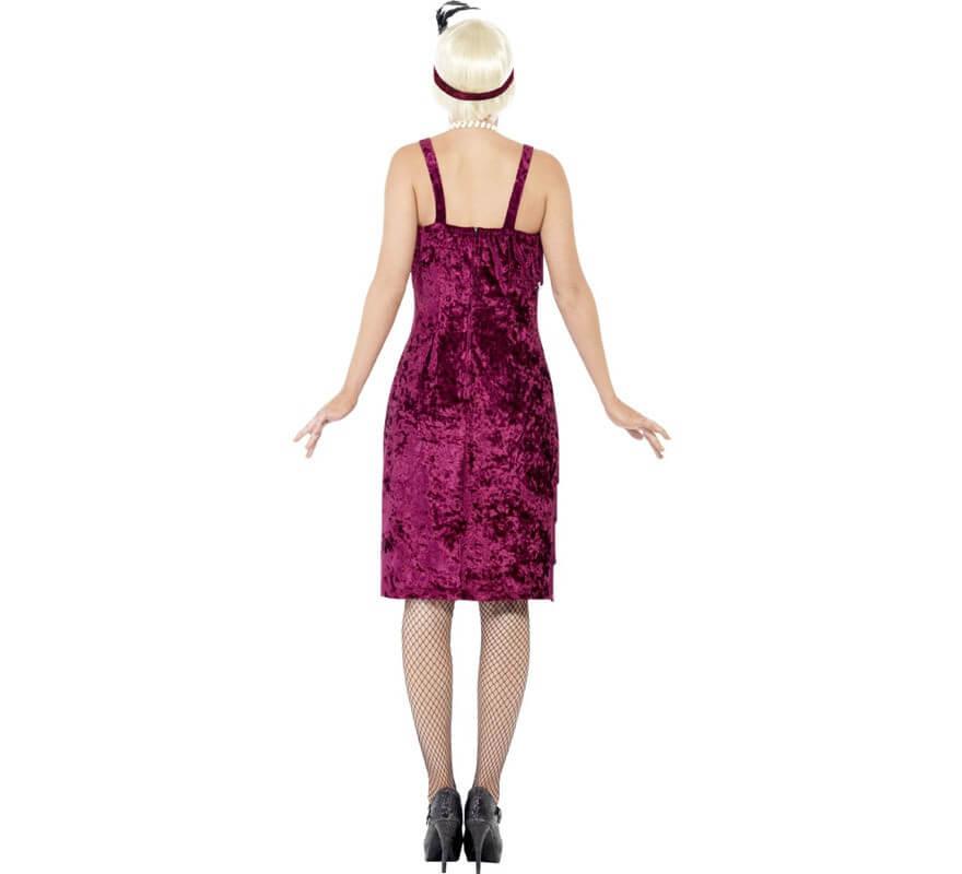 Disfraz de Flapper años 20 Burdeos para mujer-B