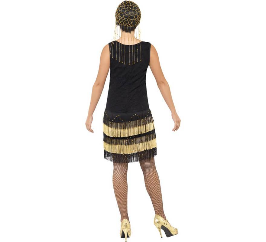 Disfraz de Flapper años 20 con Flecos para mujer-B
