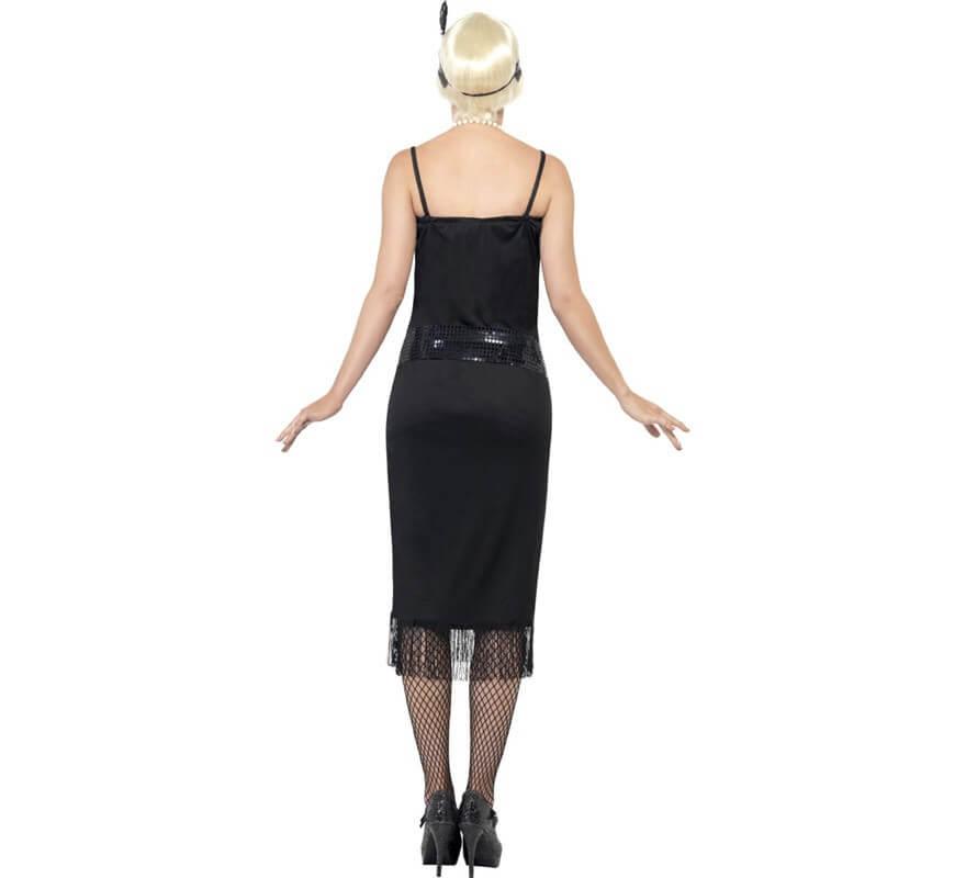 Disfraz de Flapper Locos años 20 Negro para Mujer-B