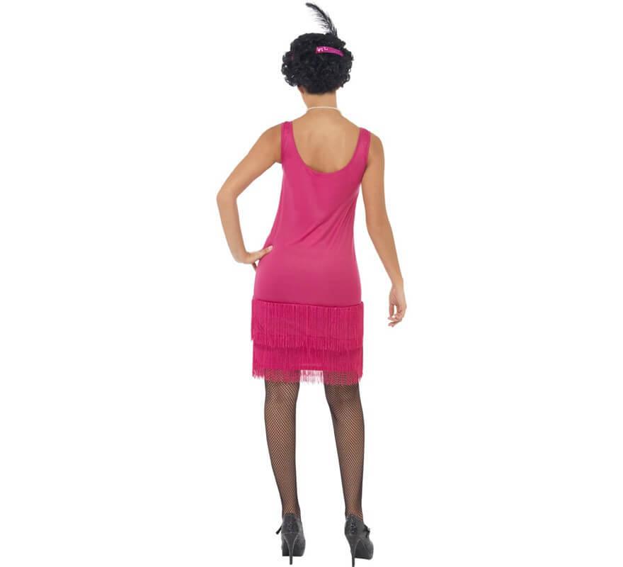 Disfraz de Flapper Locos años 20 Rosa para Mujer-B