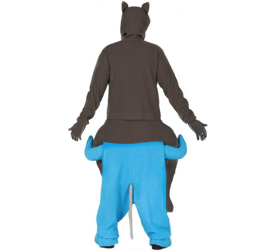 Disfraz de Gato a hombros de Ratón azul para adultos-B