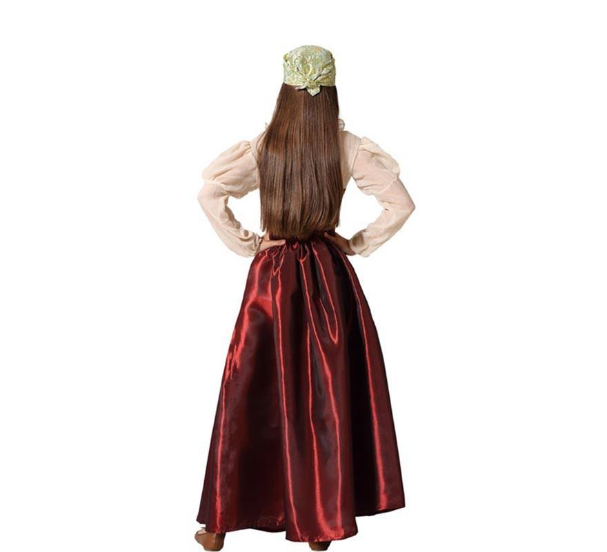 Disfraz de Gitana con Pañuelo para niña-B