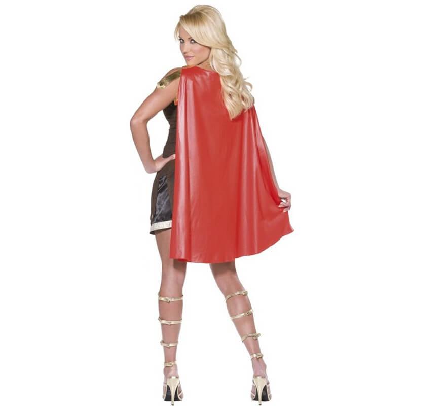 Disfraz de Gladiadora o Guerrera Romana para mujer-B