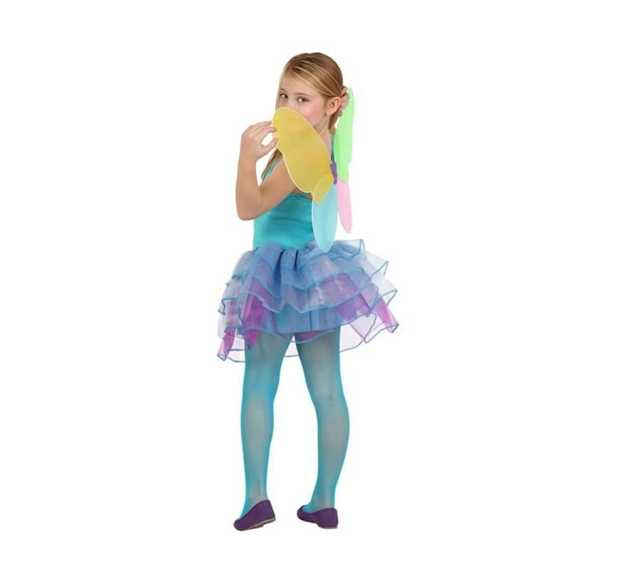Disfraz de Hada Invierno azul y lila para niñas-B