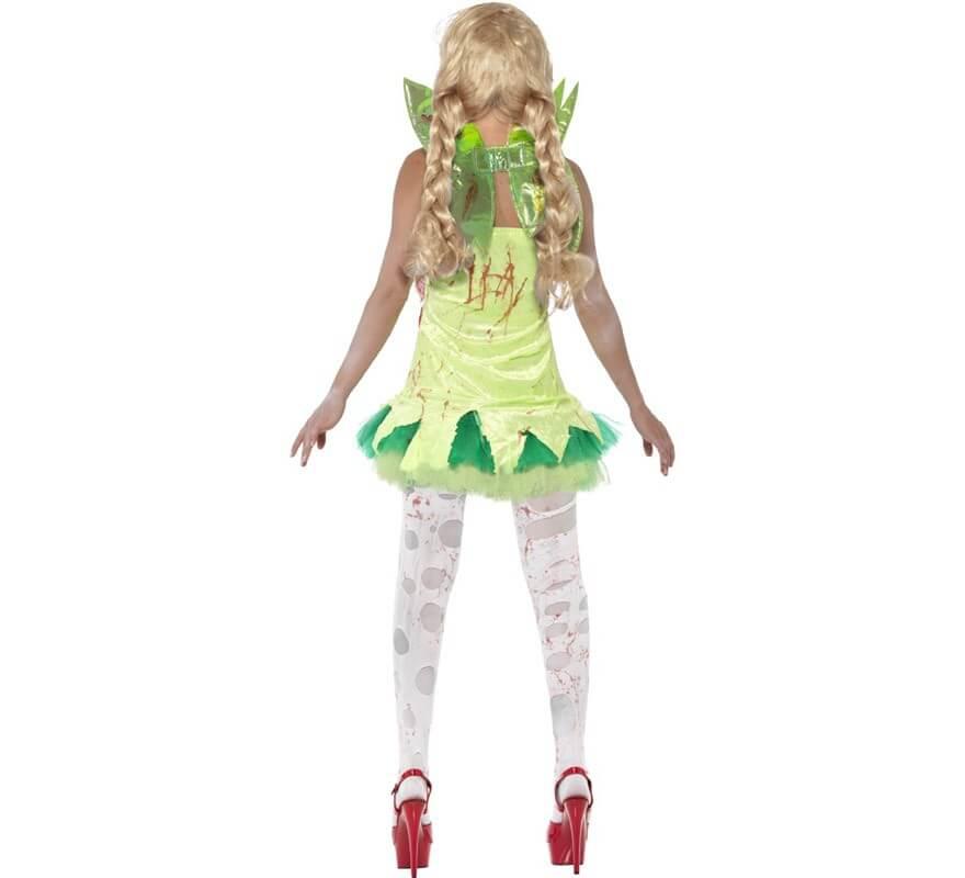 Disfraz de Hada Zombie Verde para Mujer-B