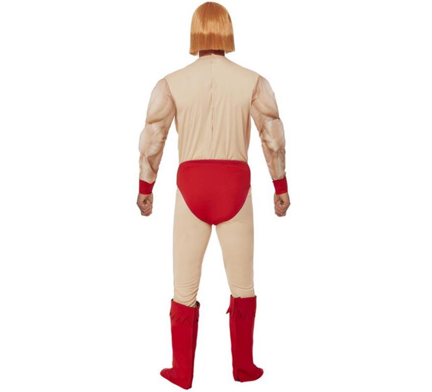 Disfraz de He Man con pecho de goma para hombre-B